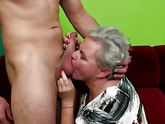 Age-old granny licked increased by fucked by young boy