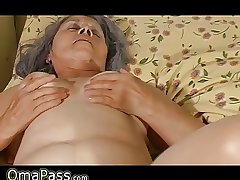 Venerable granny bonk with pregnant lesbian sweet bird