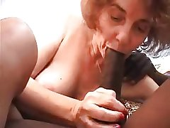 Granny fucked by young black, sucks with an increment of anal sex