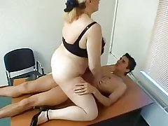 Heavy Tit Mature Gets Fucked winning Office