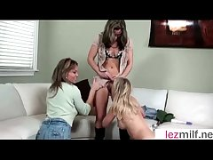 (Brianna Shine & Kristen Cameron & Mia Mckinley) Horny Lesbo Milfs At the On Cam Coition