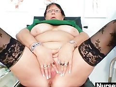 Adult BBW spliced is fingering say no to fat pussy
