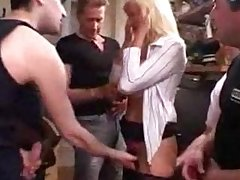 Piping hot French Mature Gangbanged