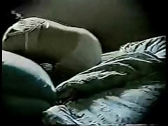 Wait for my old lady masturbating on bed. Hidden cam