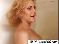 Derogatory venerable spunker Dana loves the attraction of cum