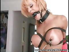 Check My MILF - Tanned busty milf BDSM action