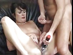 Cute hairy mature verging on fucked and toyed