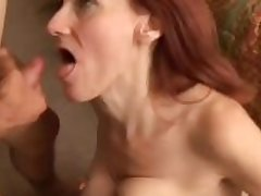 Debra is a skinny mature redhead who loves the taste for cum