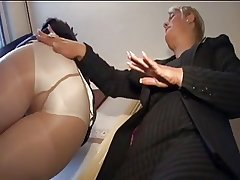 team a few mature Lady ++pantyhose and FF stocking