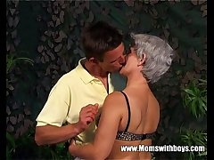 Lean Grey Haired Granny Age-old Pussy Fucked