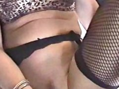 Lingerie Roxy toys her pussy plus gets jizzed on