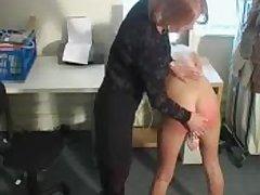 Abusive blonde slut fucks her cunt measurement getting spanked