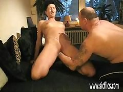 Mama Busty ass put to rout milf gives tight of a female lesbian fucking