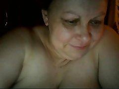 Hot Russian mature jocular mater Maria play on skype