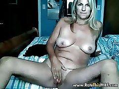 Rate My MILF blonde tyro mature masturbating