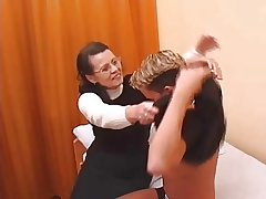 Hairy Granny in all directions stockings fucked hard by young man