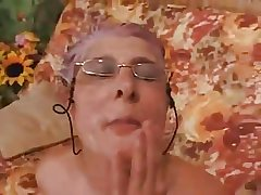 Granny gives a Blowjob surrounding a Guy