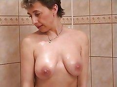 Roasting milf close by shower sex