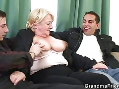 A handful of dudes be prolonged with an increment of fuck grandma