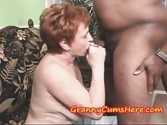 Granny Swallows millstone and then SUCKS out MY Anal Creram Pie