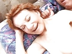Out-and-out RedHead Granny Fucking 70yo