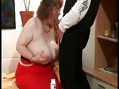 Obese Granny With Humongous Bosom