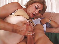 Granny enjoys a obese fat cock