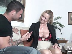 MMV FILMS Sexy Granny tries virgin especially bettor meat