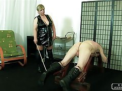 Make an issue of Sadist Granny VI - face slapping, caning, rallying