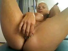 horny granny on cam, close to unalike rings on their way clit...