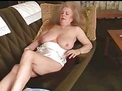 Perishable granny masturbates