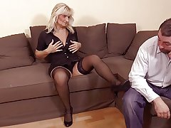 hot blonde granny in hot sexual intercourse