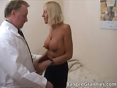 Hot tow-haired MILF gets aroused for some