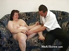 Younger guy dildos old womans ass plus fucks her