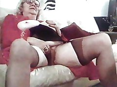 granny in stocking