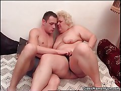 Chubby granny loves to give and get oral respect