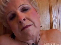 Most assuredly sexy grandma has a muddy wet pussy