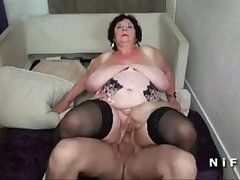 BBW French granny hard parrot penetrated in foursome - cutecam.org