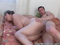 Cock Hungry Grandmother Loves Anal Dealings