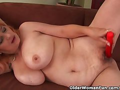 Hairy Grandma With Big Gut Has Unique Sex With A Vibrator