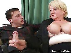 Ebrious granny mimic fucked