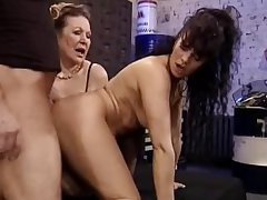 Granny and Milf Fuck chum around with annoy Mechanic   Demilf.com