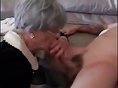 Enthusiastic granny devoted young cock