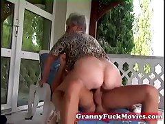 Outdoor having it away grandma