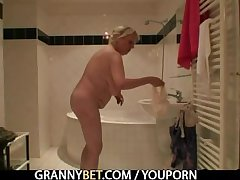 Age-old granny harpy is picked more and fucked