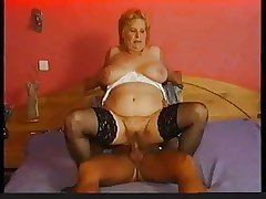 Stockings in the first place chubby granny that wants cock