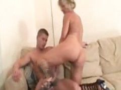 His wife's mama blackmailed him into hot sex