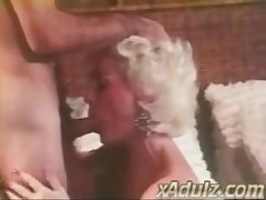 Retro Grey Haired Granny Gives Animalistic Deepthroat and Tit Vocation