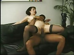 Vintage of age Anne Andersson fucked hard by a big black cock