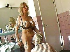 Hot granny having coitus far girls' room